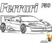 Coloriage Ferrari 6