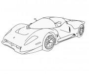 Coloriage Ferrari 9