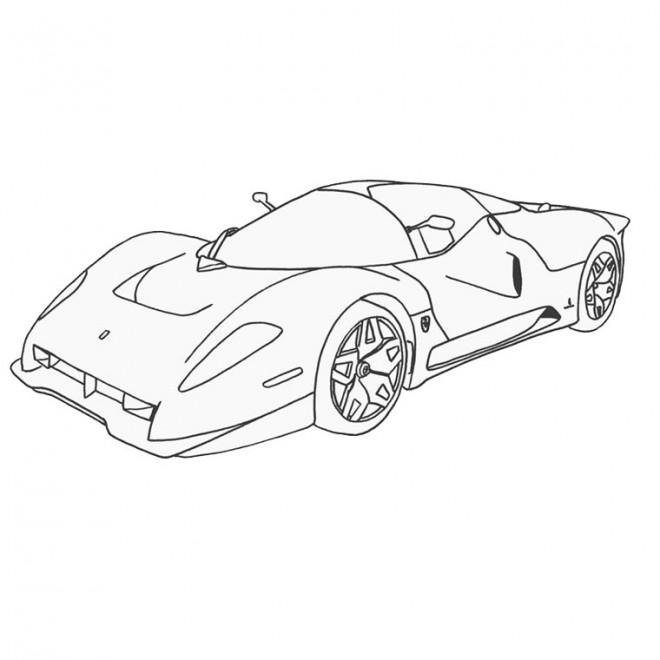 Coloriage et dessins gratuits Ferrari à colorier à imprimer