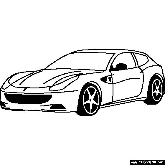 Coloriage et dessins gratuits Ferrari à découper à imprimer