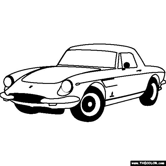 Coloriage et dessins gratuits Ferrari ancien modèle à imprimer