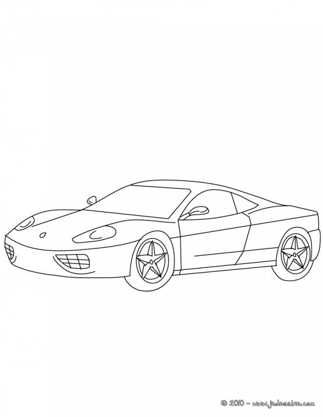 Coloriage et dessins gratuits Ferrari au crayon à imprimer