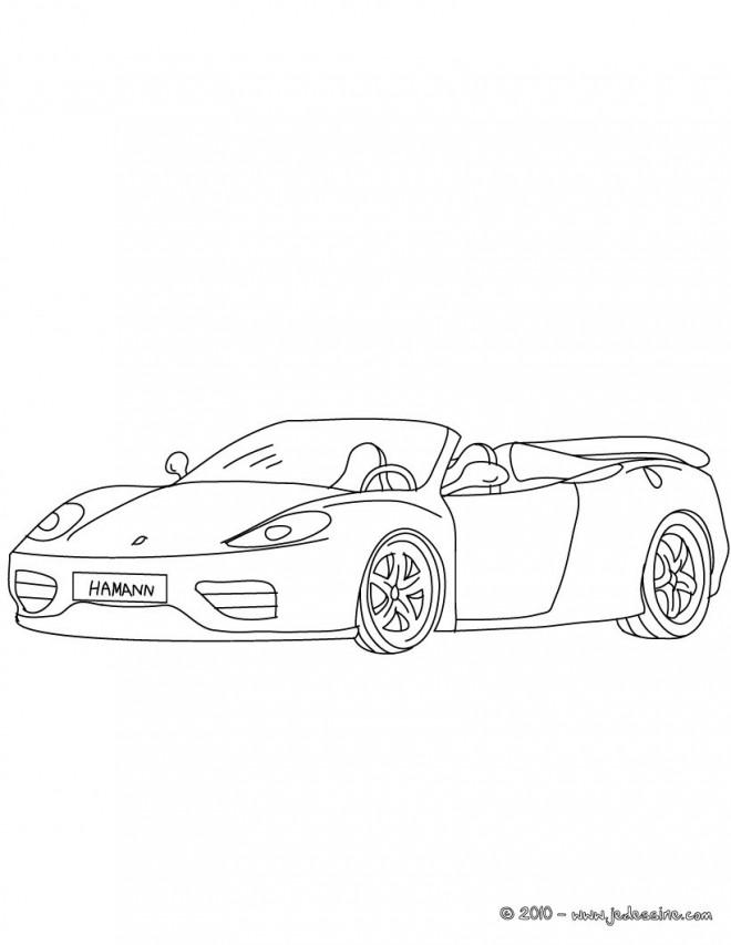 Coloriage et dessins gratuits Ferrari Cabriolet à imprimer