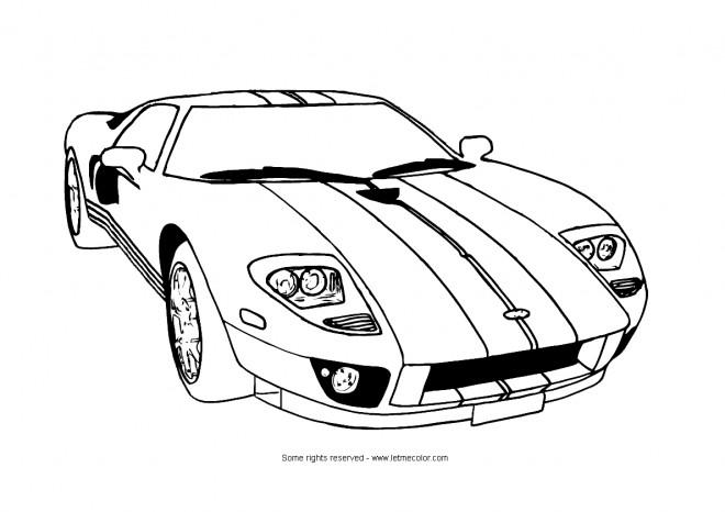 Coloriage et dessins gratuits Ferrari classique à imprimer