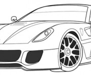 Coloriage et dessins gratuit Ferrari coupé à imprimer