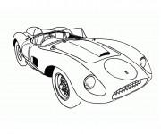 Coloriage et dessins gratuit Ferrari décapotable à imprimer