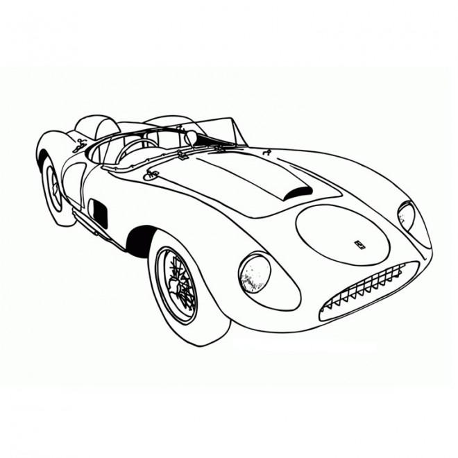 Coloriage et dessins gratuits Ferrari décapotable à imprimer