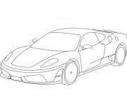 Coloriage et dessins gratuit Ferrari en couleur à imprimer