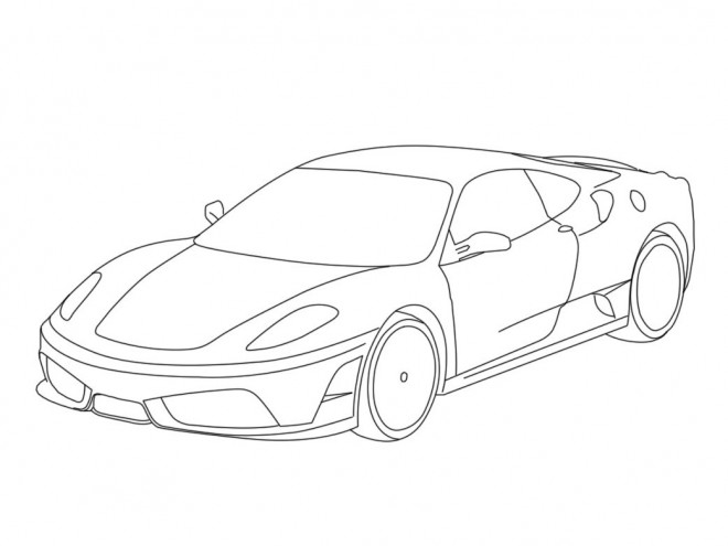 Coloriage et dessins gratuits Ferrari en couleur à imprimer