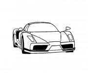 Coloriage et dessins gratuit Ferrari en noir et blanc à imprimer