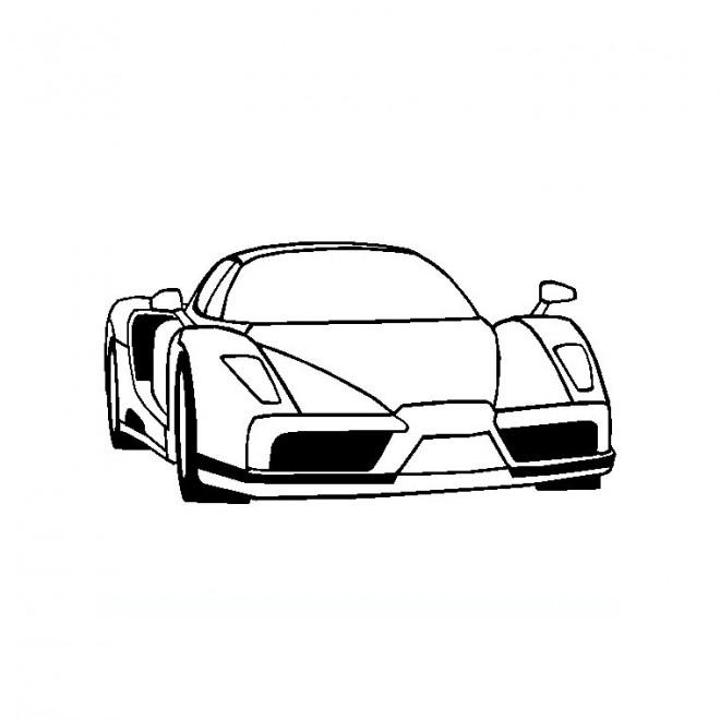 Coloriage et dessins gratuits Ferrari en noir et blanc à imprimer