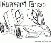 Coloriage et dessins gratuit Ferrari Enzo à imprimer