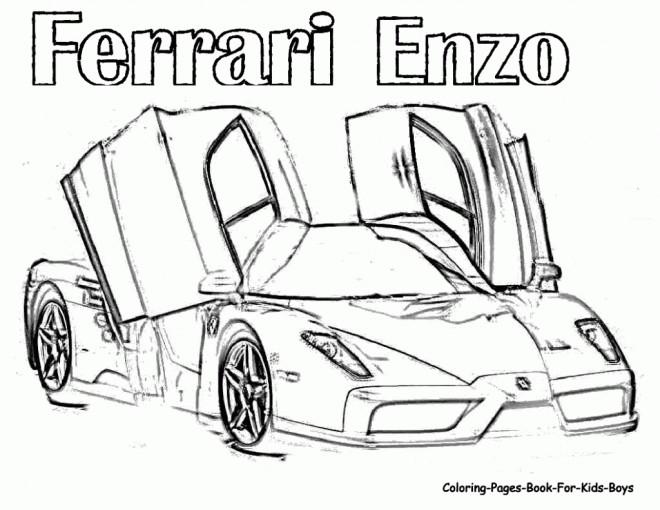 Coloriage et dessins gratuits Ferrari Enzo à imprimer
