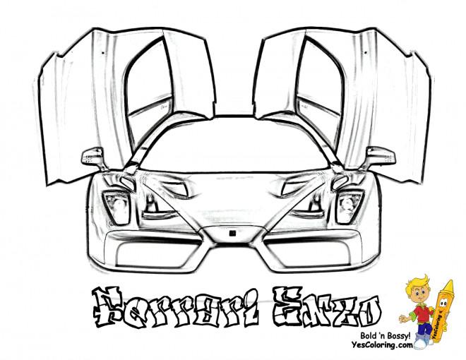 Coloriage et dessins gratuits Ferrari Enzo à télécharger à imprimer
