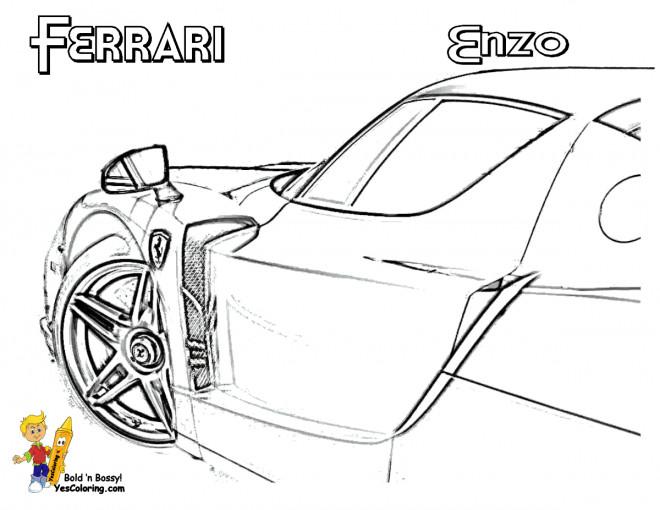 Coloriage et dessins gratuits Ferrari Enzo extérieur à imprimer