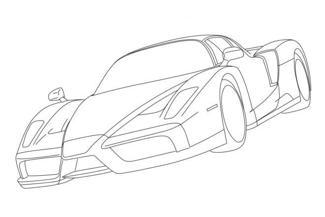 Coloriage et dessins gratuits Ferrari Enzo noir à imprimer