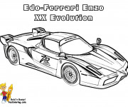 Coloriage Ferrari Enzo XX Evolution