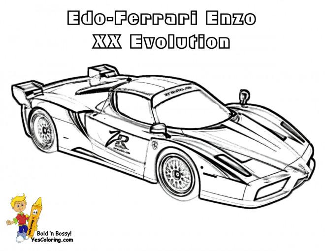 Coloriage et dessins gratuits Ferrari Enzo XX Evolution à imprimer