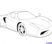 Coloriage Ferrari Evolution