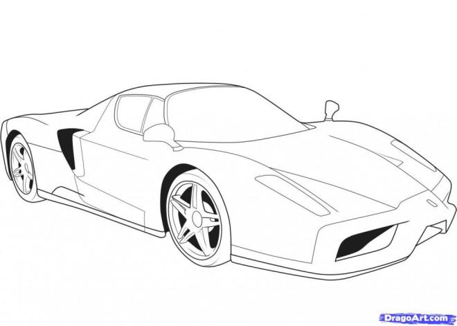 Coloriage et dessins gratuits Ferrari Evolution à imprimer