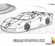 Coloriage Ferrari Evolution FXX