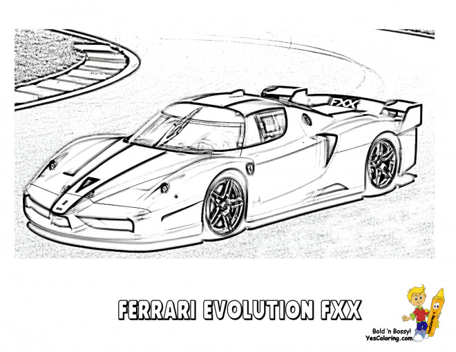 Coloriage et dessins gratuits Ferrari Evolution FXX à imprimer