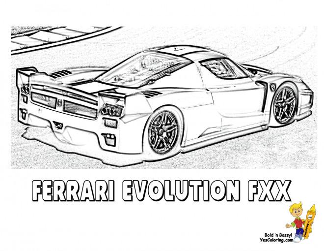 Coloriage et dessins gratuits Ferrari Evolution FXX de course à imprimer