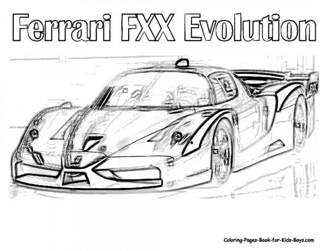 Coloriage et dessins gratuits Ferrari Evolution réaliste à imprimer