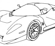 Coloriage Ferrari Evolution XX