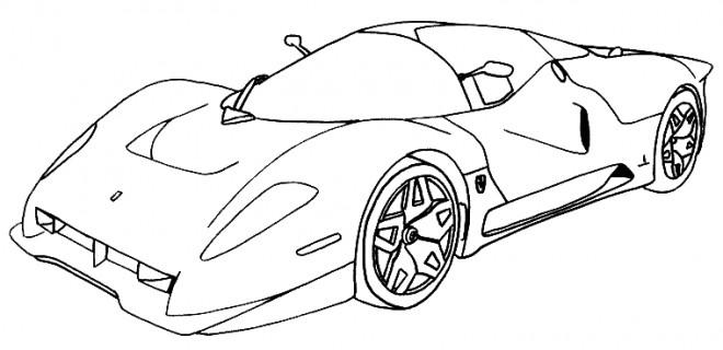 Coloriage et dessins gratuits Ferrari Evolution XX à imprimer