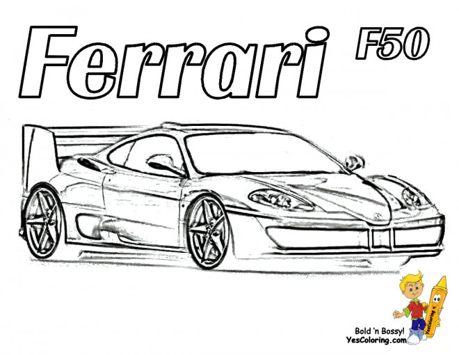 Coloriage et dessins gratuits Ferrari F50 à imprimer