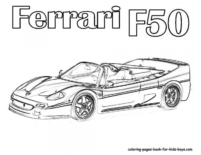 Coloriage et dessins gratuits Ferrari F50 modèle 2017 à imprimer