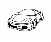 Coloriage Ferrari facile