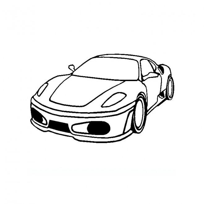 Coloriage et dessins gratuits Ferrari facile à imprimer