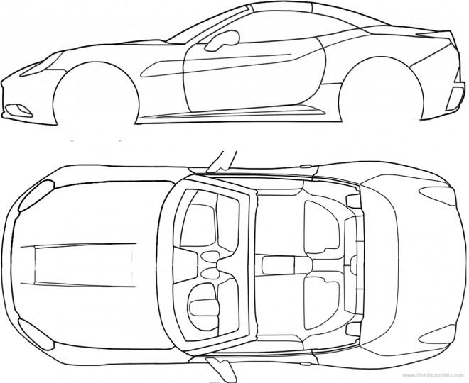 Coloriage et dessins gratuits Ferrari Fiche Technique à imprimer