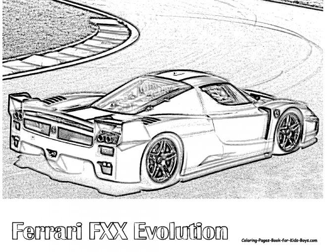 Coloriage et dessins gratuits Ferrari Fxx de course à imprimer