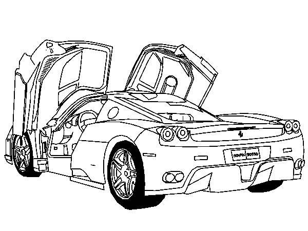 Coloriage et dessins gratuits Ferrari modèle F430 portes ouvertes à imprimer