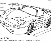 Coloriage Ferrari modèle F50