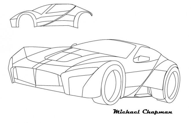Coloriage et dessins gratuits Ferrari modèle révolutionnaire à imprimer