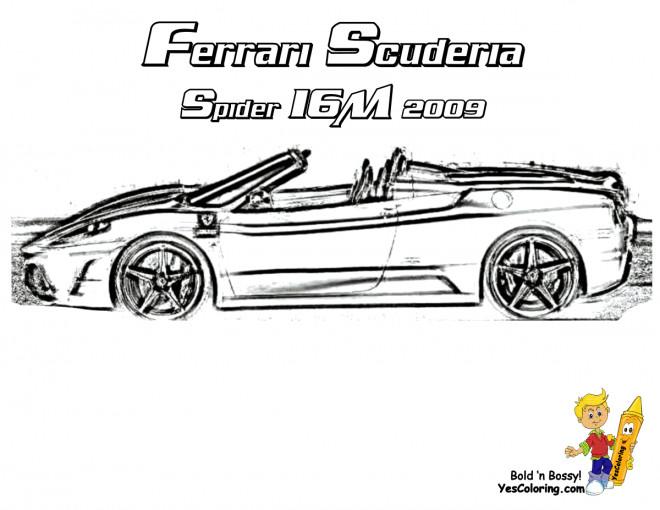 Coloriage et dessins gratuits Ferrari Scuderia Spider 16M à imprimer