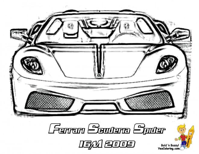 Coloriage et dessins gratuits Ferrari Scuderia Spider à imprimer