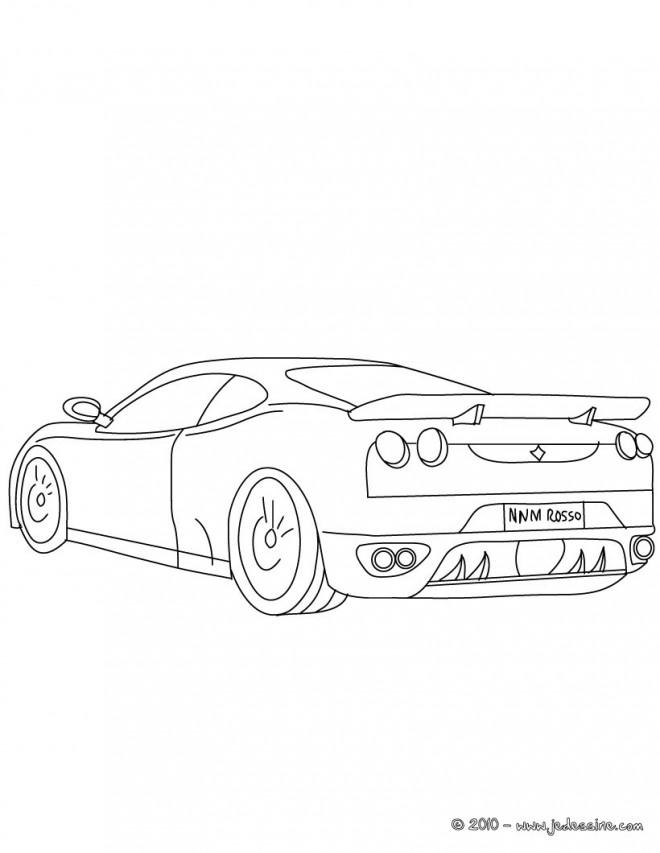 Coloriage et dessins gratuits Ferrari stylisé simple à imprimer