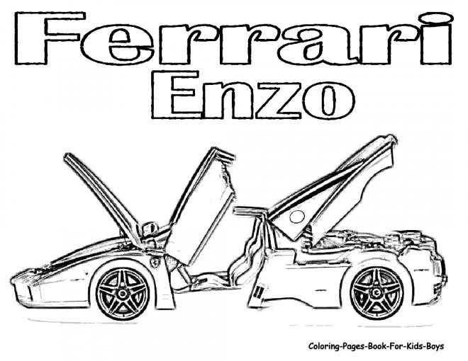 Coloriage et dessins gratuits Illustration Ferrari Enzo à imprimer