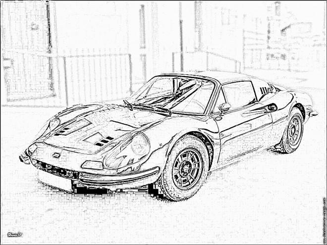 Coloriage et dessins gratuits Image Ferrari coupé à imprimer