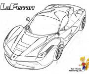 Coloriage et dessins gratuit Laferrari stylisé à imprimer