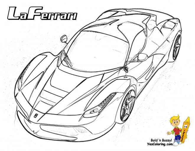 Coloriage et dessins gratuits Laferrari stylisé à imprimer