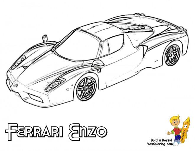 Coloriage et dessins gratuits Le Modèle Enzo de Ferrari à imprimer
