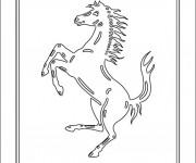 Coloriage et dessins gratuit Logo Ferrari à imprimer