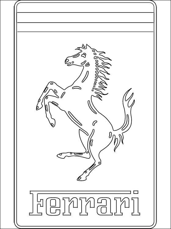 Coloriage et dessins gratuits Logo Ferrari à imprimer