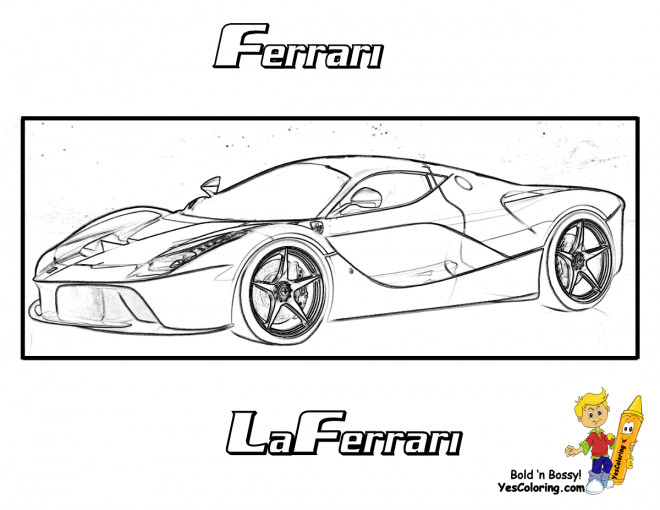 Coloriage et dessins gratuits Nouveau modèle de Ferrari Evolution à imprimer